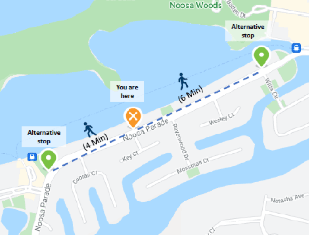 Noosa Parade Bus Stops Temporary Closures – Witta Circle, Key Court And Quamby Place 2